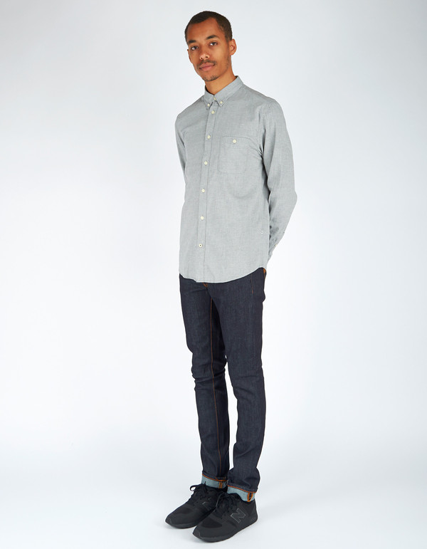 Men's No Nationality New Derek LS Flannel Shirt Grey