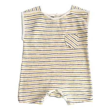 kids Nico Nico Baby Vi Striped Romper - Cream