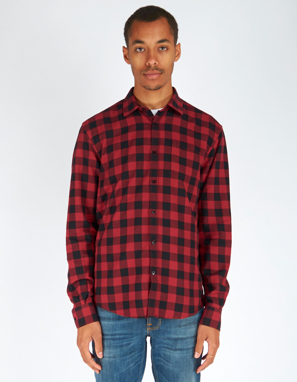 Woolrich John Rich & Bros. Buffalo Check Shirt Red Black