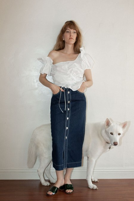 Shaina Mote Utility Skirt - Indigo