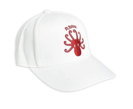 Kids Mini Rodini Octopus Embroidered Cap
