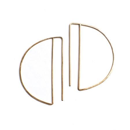 Lila Rice Deco Hoops - 14K Goldfill