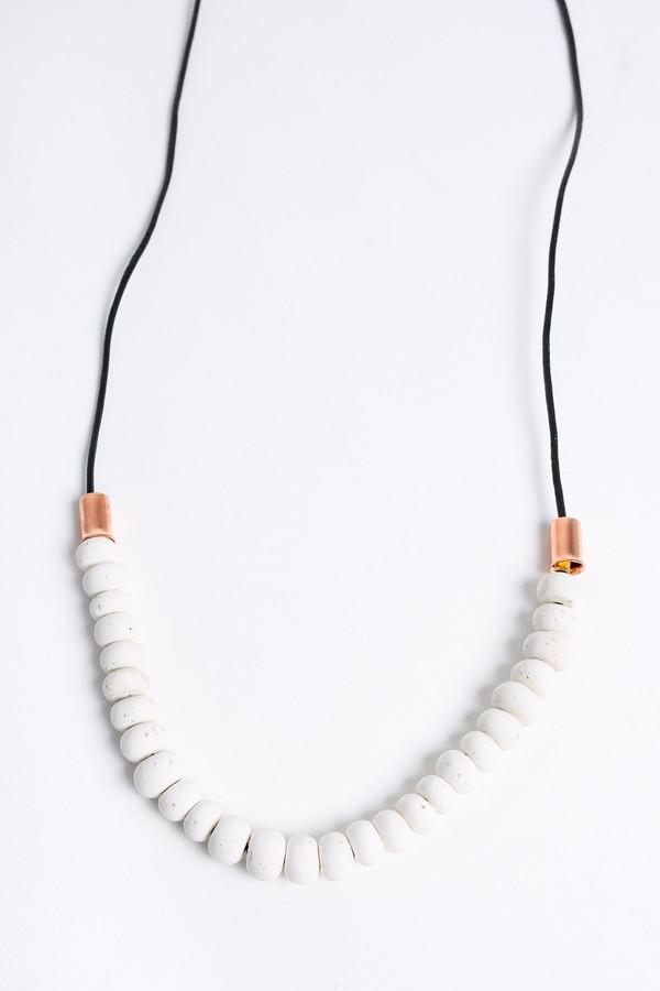 Pepper Train The Mini Mono Necklace in white
