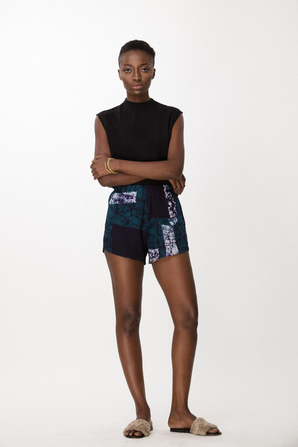 Osei-Duro Dash Shorts in Navy Rubics