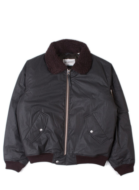 Men's Our Legacy Flight Jacket Coated Black