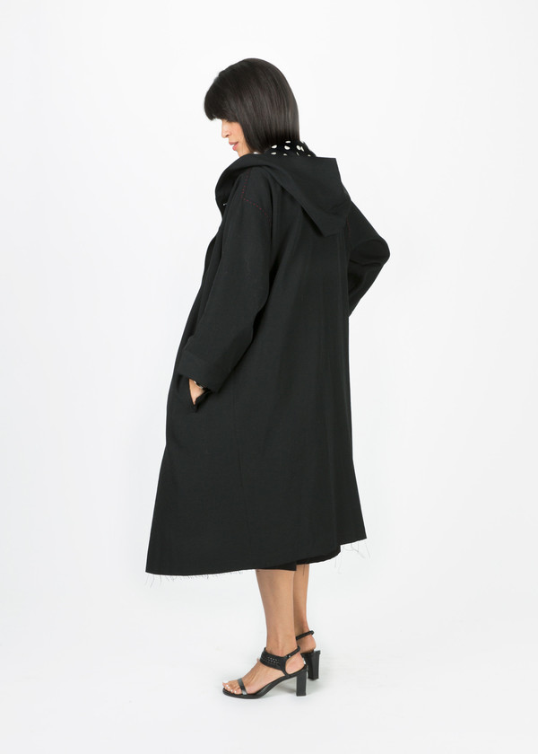 Nocturne #22 Contrast Stitch Overcoat