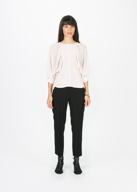 Amelia Toro Gathered Silk Crepe Blouse