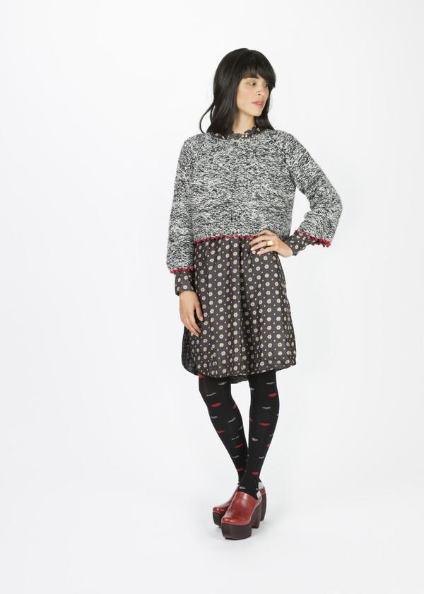 Pero Poppy Fringe Crop Sweater