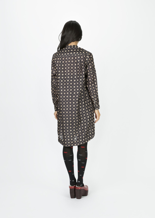 Pero Poppy Print Silk Tunic