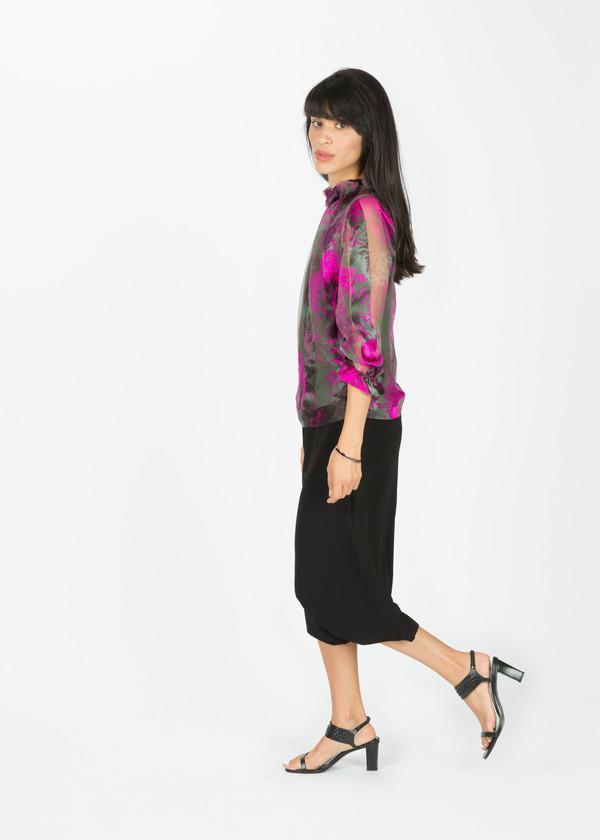 Amelia Toro Satin Stripe Silk Blouse