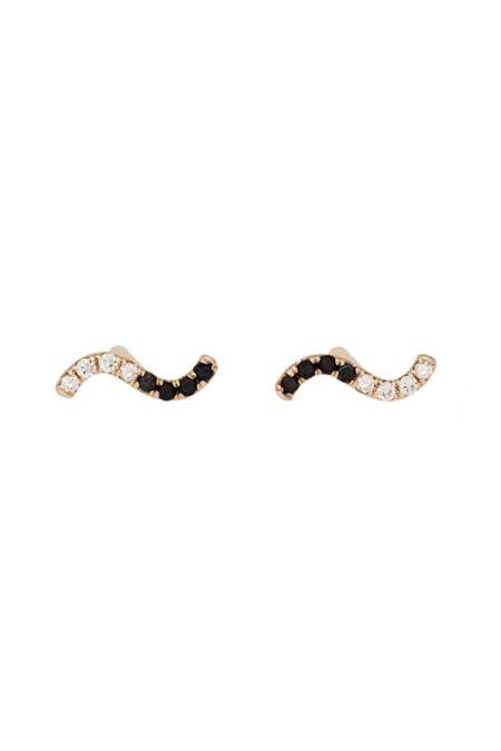 Hortense Gold Wave Earring