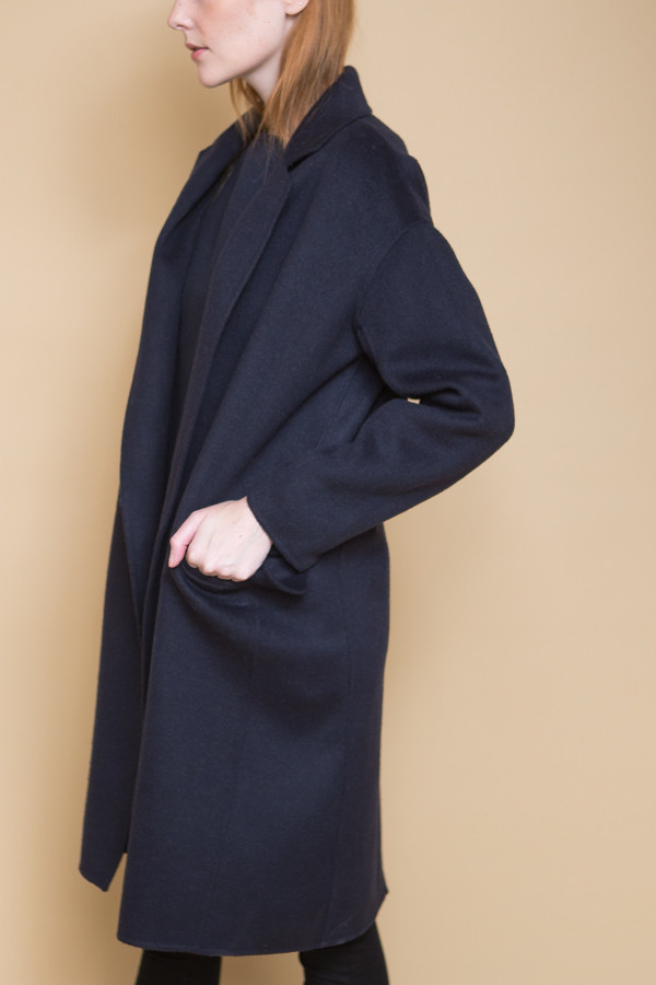 Achro Handmade Long Coat - Navy