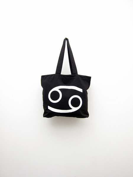 69 Tote, Black Cotton