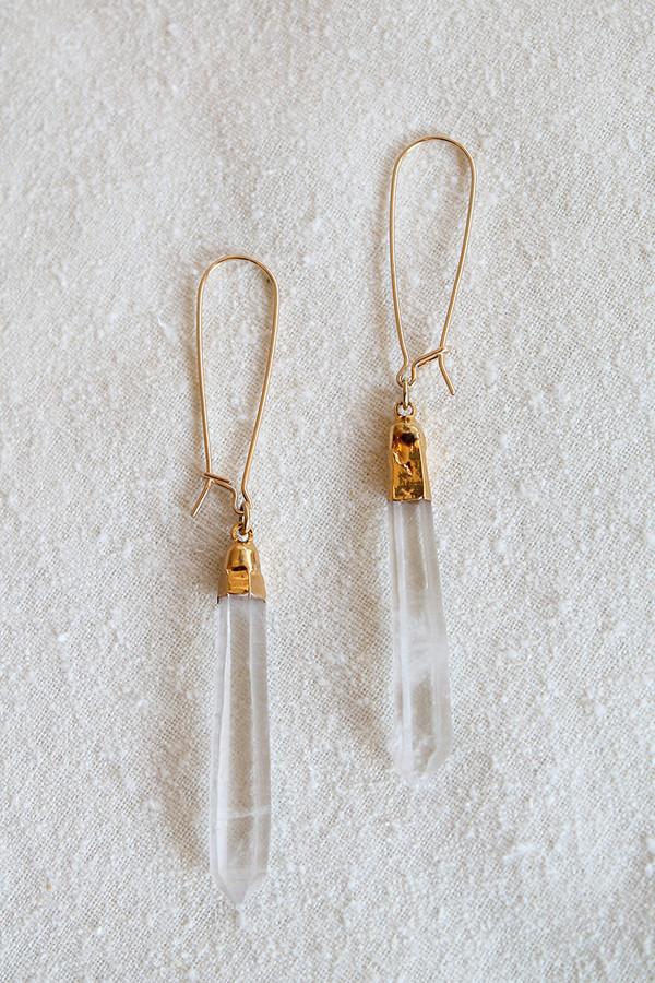 sheila b lemurian quartz earring