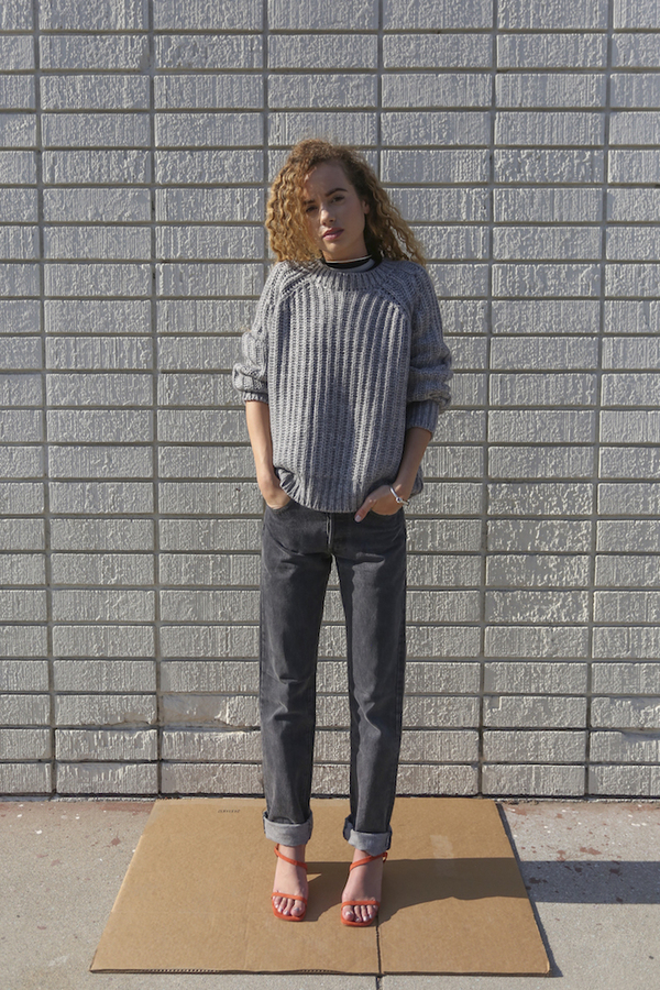 Objects Without Meaning Rib Sweater, Grey