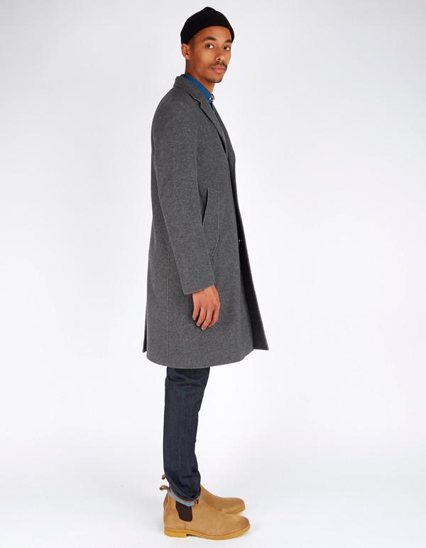 Men's Nudie Waldo Two Tone Coat Grey Melange