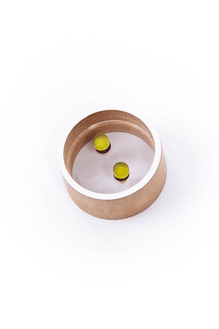 OkiikO Asorti Stud Earrings (Small Green Circle)
