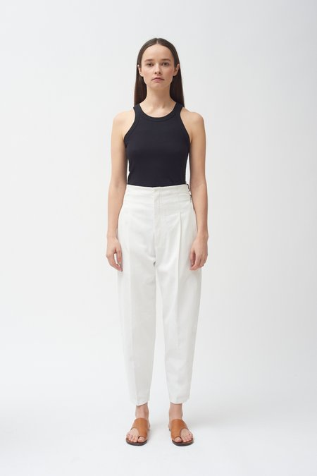 Colovos Buckle Pant - White
