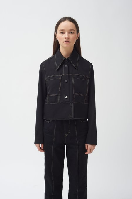 Colovos Cropped Pocket/Zip Jacket