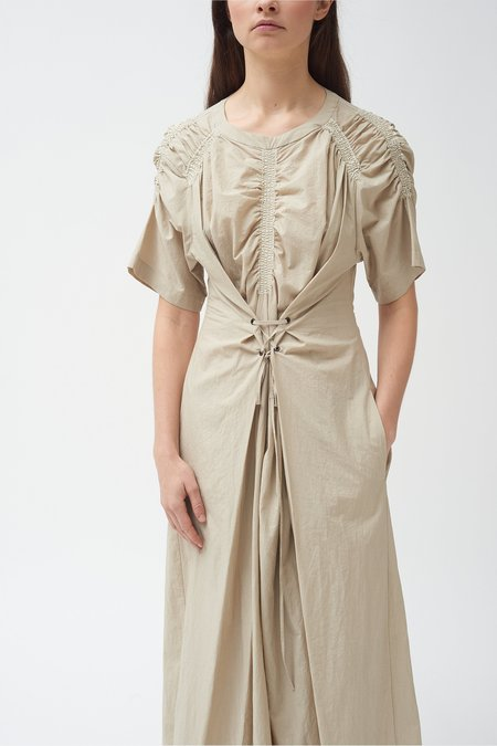 Colovos Gathered Tie Dress - Natural