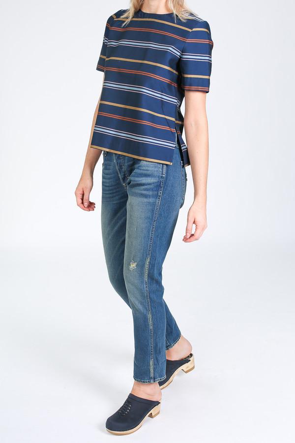 Steven Alan Etch top in multi stripe