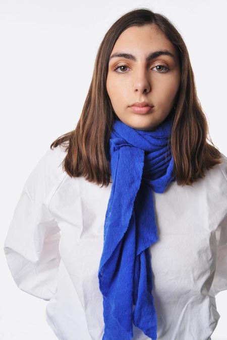 Botto Giuseppe Diamond Shaped Cashmere Scarf - Bright Blue