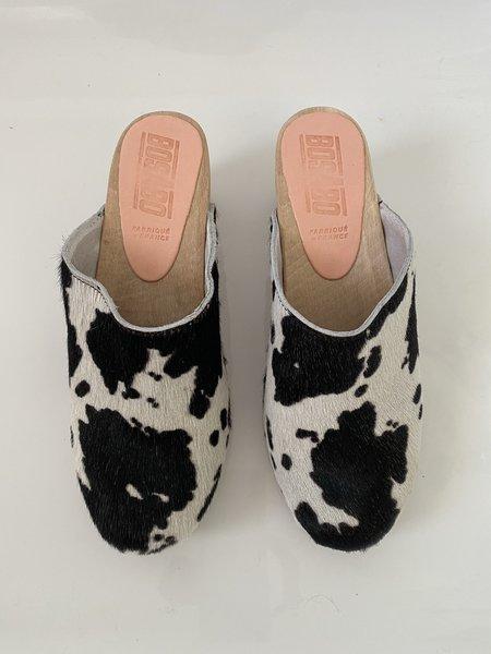 Bosabo Hide Mule - Cow Print