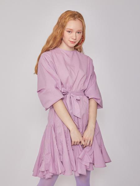 BLNC Flare Mini Cotton Dress - Lilac