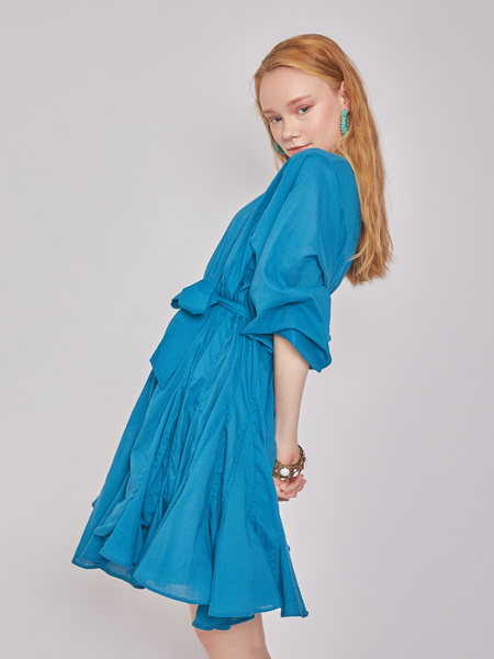 BLNC Flare Mini Cotton Dress - Classic Blue