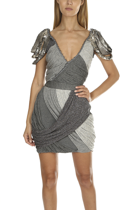 Coven Beaded Dress - Silver
