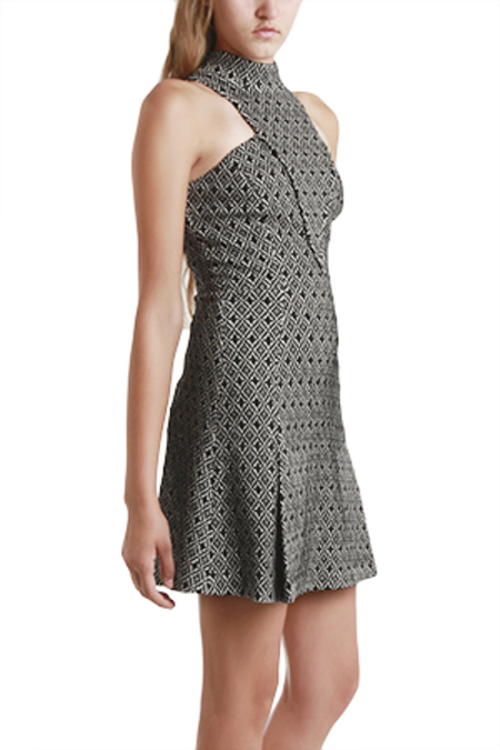 Charlotte Ronson Mini Dress - Diamond Knit