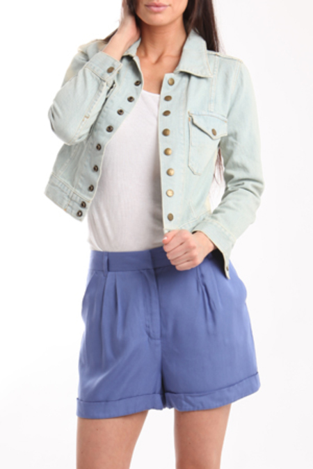 Charlotte Ronson High Waisted Shorts - Cerulean