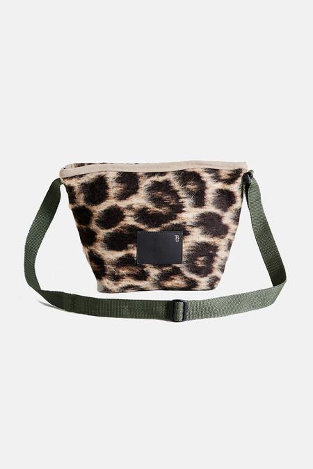 R13 Mini Messenger Bag - Leopard White