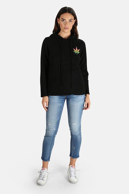Harden x Blue&Cream Cashmere Leaf Pullover Hoodie Sweater - Black