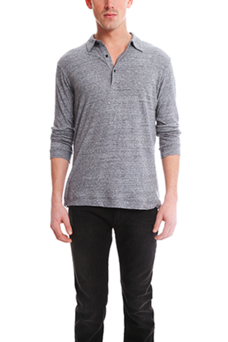 Blue&Cream Further Polo Top - Charcoal