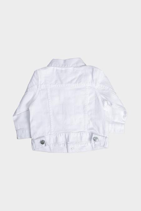 kids Blue&Cream Denim Jacket - White
