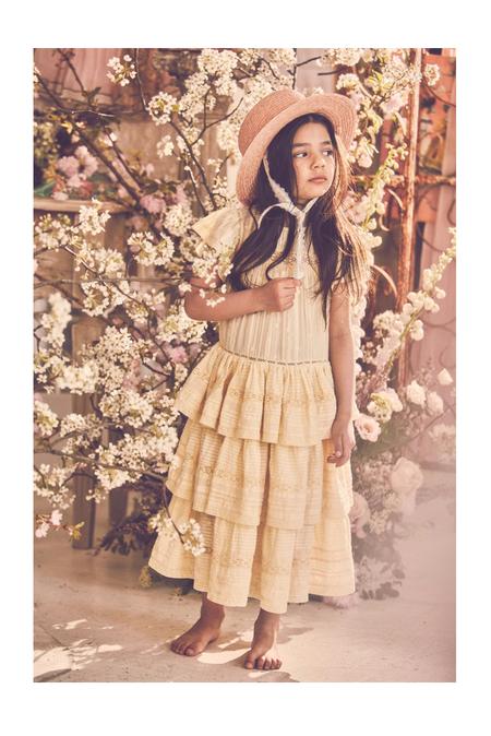 kids LoveShackFancy Callie Dress - Daffodil