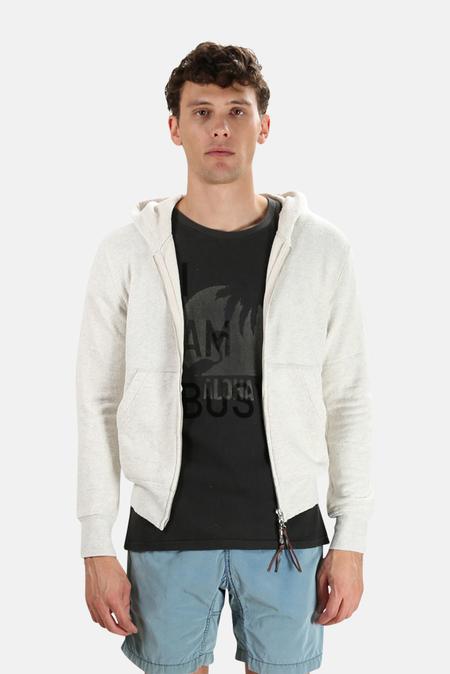 Remi Relief Silk Nep Zip Parka Jacket - Oatmeal