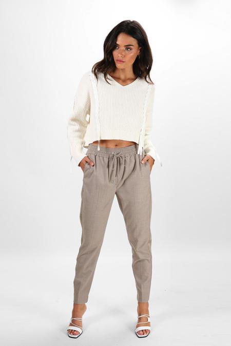 3.1 Phillip Lim Side Stripe Track Pants - Grey Melange
