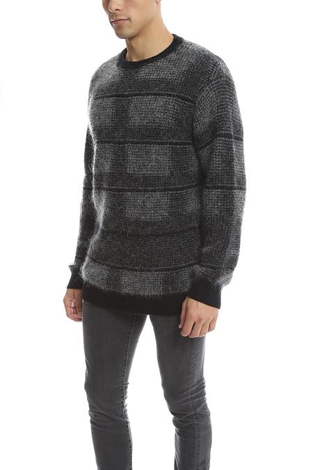 Public School Plaid Pullover Sweater - Grey/Black
