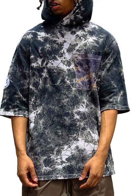 DIPLOMACY Garcia 3/4 Hoodie Sweater - Black/Crystal Wash