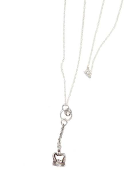 Duchess of Malfi Sterling Antique Crown Necklace - Sterling Silver