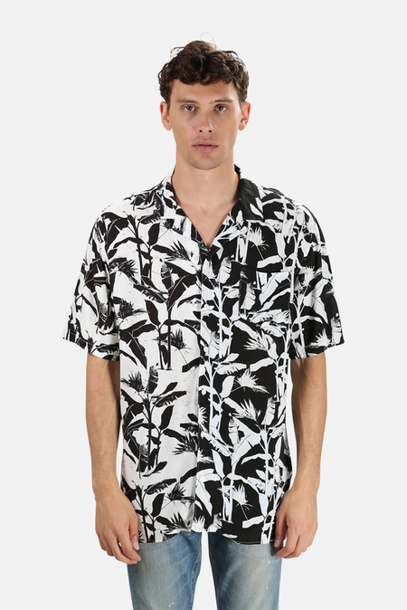 Zanerobe Diced Short Sleeve Shirt - Black/White