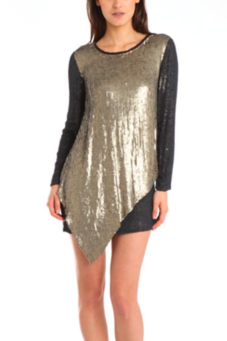 3.1 Phillip Lim Sequin-Embellished Silk Dress - Gold