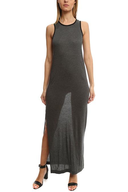ATM Maxi Tank Dress - Grey/Black