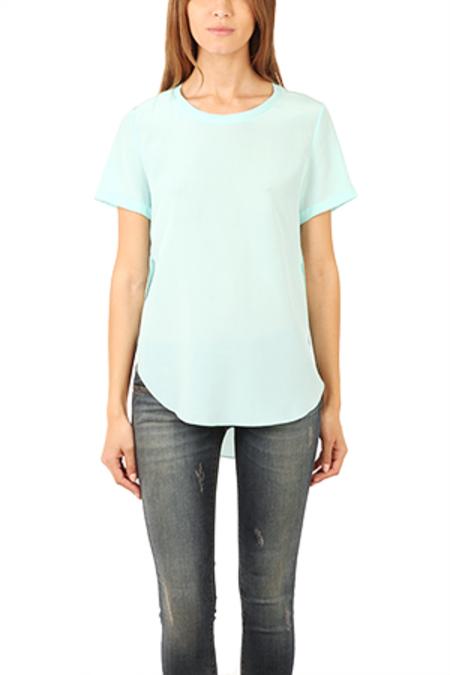 3.1 Phillip Lim Overlapped Side Seam T-Shirt - Azure