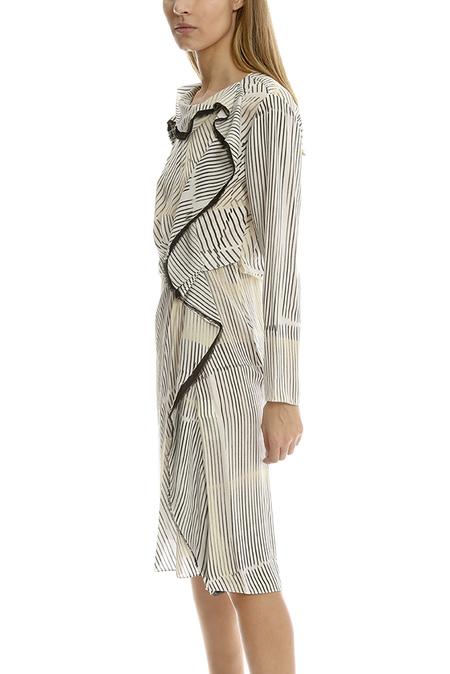 3.1 Phillip Lim Print Silk Ruffle Dress - Ivory