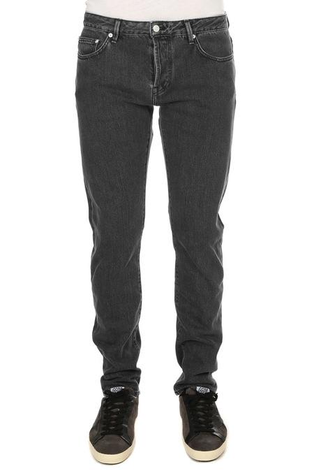 Officine Generale Kurt 5 Pkt Japanese Denim Pants - Grey Black