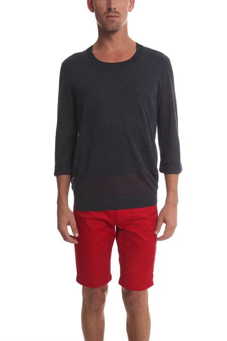 3.1 Phillip Lim Shortsleeve Pullover Sweater - Navy