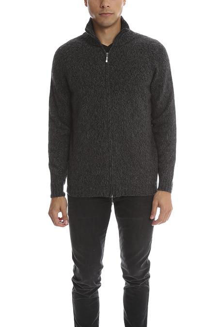 120% LINO Zip Sweater - Anthracite